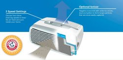 Holmes HEPA Type Desktop Air Purifier Features