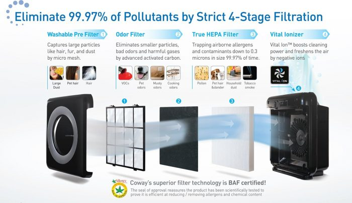coway 4 stage air cleaner